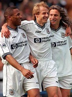 Les Ferdinand, Juergen Klinsmann, David Ginola (Tottenham Hotspur)