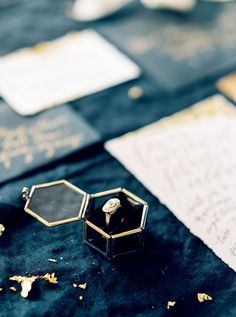 A moody winter wedding inspiration shoot filled with candlelight and exquisite black and gold details   Emily Katharine Photography: http://www.emilykatharine.com