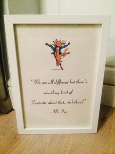 Fantastic Mr Fox Roald Dahl Vintage Style A4 Quote Print Art