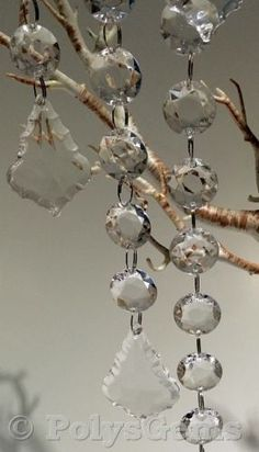 5 Acrylic Crystal Garlands and Tear Droplet Wedding Party Table Decorations for sale online