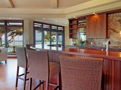 Luxury Wooden Cabinet Kitchen from Holiday House Design Ideas with Beautiful Ocean View 600x450 Holiday House Design Ideas with Beautiful Ocean View