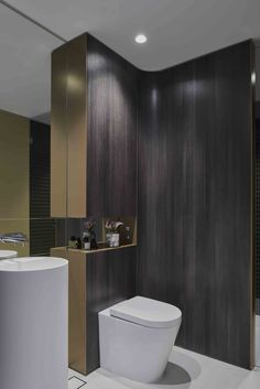 Connor Smart Design, Bathroom Lighting, Toilet, Curtains, Architecture, Interior, Bathrooms, Buildings, Arquitetura