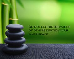 Do not let the behaviour ...