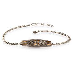 noir pave tribal chevron bracelet