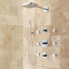 Arin Thermostatic Shower System with Hand Shower & 6 Jets - Shower Systems - Shower - Bathroom