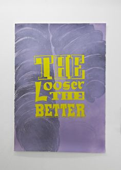 Lucy Coggle: Purple-Lee Lozano http://www.looklateral.com/en/artist/lucy-coggle/