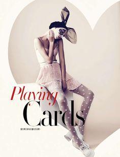 """Playing Cards"": Anastasia M and Dayana by Lamb for Bazaar Hong Kong"