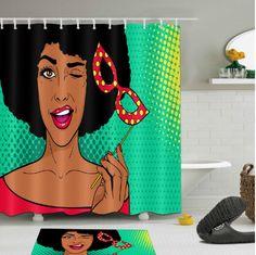 afrocentric shower curtain curtains pop African american theme themed natural hair hip hop home decor bathroom unique urban bath tub decoration idea design Rustic Shower Curtains, Bathroom Shower Curtains, Bathroom Showers, Bathrooms, Diy Bathroom Remodel, Bathroom Renovations, Budget Bathroom, Restroom Remodel, Bathtub Makeover