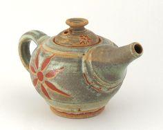 Small Stoneware Teapot  14 oz.  Sage Green by LomaPrietaPottery