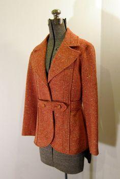 Persimmon tweed blazer