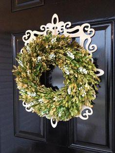My Front Door Wreath...Embellished. :)