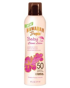 Hawaiian Tropic Baby Creme Lotion SPF 50: 6 OZ by Hawaiian Tropic. $12.99. Provides Broad Spectrum UVA & UVB Protection. Made With Natural Island Botanicals. Pediatrician Tested. Gentle, Easy Application Crème. Won't Run Into Eyes. Pediatriciantested, Hawaiian Tropic Crème Lotion for Baby provides advanced skin protection in a gentle, easy application crème that won't run into eyes. Natural island botanicals calm and soothe, whilethe SunSure formula pro... Diy Beauty, Beauty Skin, Spray Sunscreen, Hawaiian Tropic, Active Ingredient, Lotion, Tropical, Skin Care, Sun Tanning
