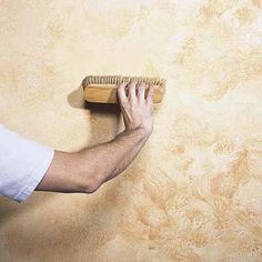 Decorative Painting Techniques: Two-Tone Patina - Painting Style Faux Walls, Textured Walls, Faux Painting Techniques, Paint Techniques For Walls, Cement Walls, Painting Concrete, House Painting, Faux Painting Walls, Painting Tools