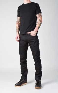 CULTIZM - Carefully selected menswear since Shop over 100 brands in our online shop. Mature Mens Fashion, Mens Fashion Blog, Punk Fashion, Edwin Jeans, Dark Men, Red Wing Boots, Mens Attire, Workwear Fashion, Fresh Outfits
