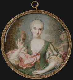 André Claude Martin Lefèvre d'Orgeval (ascribed) - Lady with Mask (Mme Parabère?), c. 1750