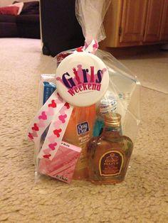 Girls weekend trip little goodie bag.
