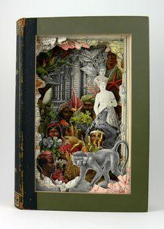 alexander korzer robinson's Book Collage Dioramas