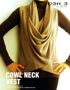 Cowl Neck Vest (PDF Patterns and instructions) - Inspring Jeans with Casual Jeans, Love it!