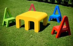 Letters Furniture for Kids by Alessandro Di Prisco Photo