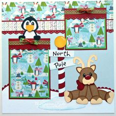 christmas scrapbook pages | BLJ Graves Studio: Penguin Christmas Scrapbook Page