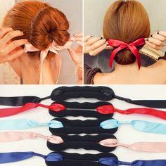 Clip Stick Bandage Bow Bun Hair Twist Styling Maker Braid Tools Hair Accessories #ebay #Fashion