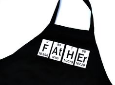 Periodic Table of the Elements Grilling Apron | YellowBugBoutique    This would make such a great Father's Day or birthday gift for my dad, who's a chemist. Bet it would work for lots of dad's in the sciences, or whose kids are in the sciences.