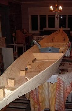 This is what my dad and I are doing right now... building a canoe from scratch ♥ Camping