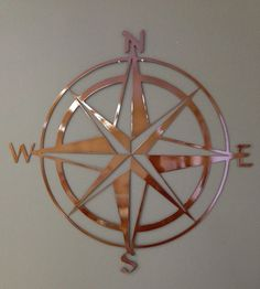Nautical Compass Rose Metal Wall Art 18 by alkemymetal on Etsy