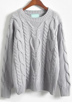 Store Gray Lengthy Sleeve Batwing Cable Knit Sweater on-line. Sheinside affords Gray Lengthy Sleeve Batwing Cable Knit Sweater & extra to suit your modern wants. Knit Fashion, Sweater Fashion, Sweater Outfits, Fashion Wear, Fashion Women, Style Fashion, Men Sweater, Fashion Design, Pullover Mode