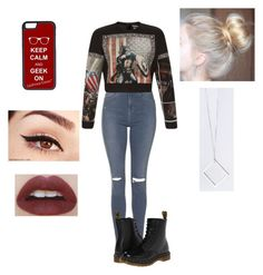 """""""Marvel sweater look"""" by oliviaolmstead on Polyvore featuring Topshop, FAUSTO PUGLISI, Dr. Martens, B KREB and CellPowerCases"""