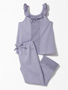 Kids Nightwear, Sleepwear Women, Baby Girl Dress Patterns, Baby Dress, Little Girl Outfits, Kids Outfits, Childrens Pyjamas, Pajama Pattern, Boys And Girls Clothes