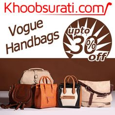 #ONLINE_SHOPPING @ Khoobsurati.com GET UPTO 30% OFF ON #HANDBAGS http://khoobsurati.com/women/bags