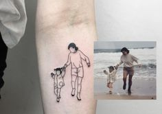 Line Art Tattoos, Dad Tattoos, Family Tattoos, Mini Tattoos, Future Tattoos, Body Art Tattoos, Small Tattoos, Tattoo Dad, Tattoo Familie