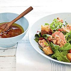 Grilled Salmon Salad with Salsa Dressing | MyRecipes.com
