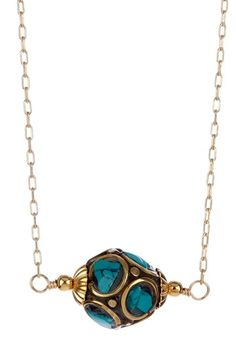 mariechavez  Mosaic Tibetan Bead Necklace
