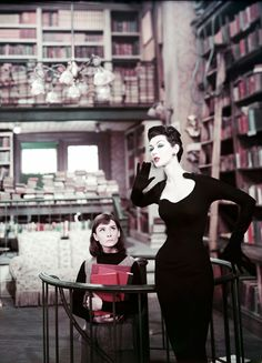 Audrey Hepburn and Dovima in Funny Face (Stanley Donen, 1957)
