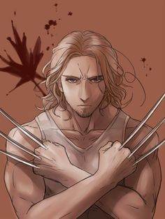 Wolverine [2p!Can APH] by RavenMushroom.deviantart.com on @deviantART - Crossover between Hetalia and X-Men. Why? Because Wolverine (the character) IS Canadian.