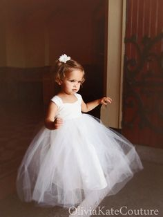 Flower Girl Dress Cotton Cream by OliviaKateCouture on Etsy, $89.95 Too simple auntie B? Is it poofy enough? Thoughts? Xoxo