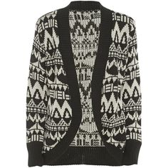 Black Aztec Knit Cardigan ($20) ❤ liked on Polyvore featuring tops, cardigans, sweaters, jackets, outerwear, aztec print tops, sequin top, cap sleeve top, aztec pattern cardigan and zip top