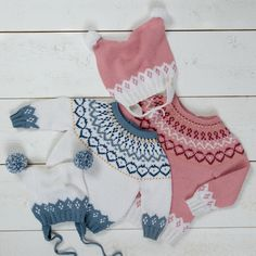 GU-004 Gullet genser & duskelue – Gullungen Garn Baby Knitting Patterns, Free Knitting, Baby Barn, Baby Alpaca, Jacket Pattern, Free Design, Crochet Bikini, Free Pattern, Girl Outfits
