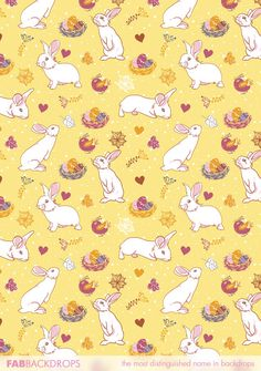 FabVinyl Easter Bunny With His Egg Filled Nest Yellow Backdrop is an kyooot backdrop for portraits, Easter parties, and hopping events. Easter Backdrops, Conversational Prints, Paper Animals, Easter Stuff, Bunny Art, Easter Party, Photography Backdrops, Paper Background, Rabbits