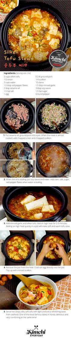 Silken tofu stew