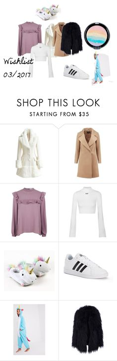 """""""Wishlist 03/2017"""" by reneechriss ❤ liked on Polyvore featuring WithChic, Boohoo, Glamorous, Off-White and adidas"""