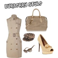 Burberry Style, created by andrea-rivero-schiffer on Polyvore