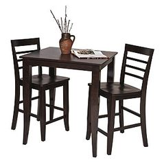 """For smaller spaces - pub table and bar stools from the """"Rogers Pub Collection"""" available at World Market"""