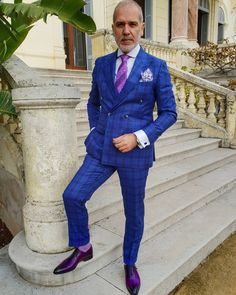 Pleated tie and square by Suit and shirt by Socks by Shoes by Gentleman Style, Gentleman Fashion, Mens Fashion, Fashion Outfits, Black Men Beards, Dress Socks, Suit And Tie, Style Men, Men's Style