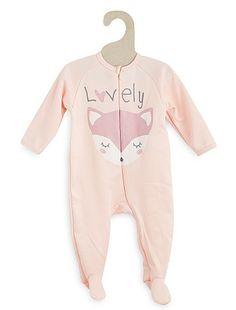 Sobrepijama con estampado animal                                                                                                                             rosa Bebé niña