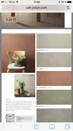 Lady Minerals - kalkmaling by Jotun Dekorativ AS - issuu Bedroom Colour Palette, Colour Pallete, Colour Schemes, Interior Paint, Interior Design Living Room, Wall Paint Colors, Color Of The Year, My New Room, House Colors
