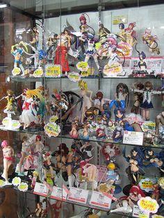 Raunchy Anime babes at a shop in Akihabara, Tokyo Japan
