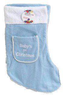 Babys 1st Christmas Stocking  15 Blue -- This is an Amazon Affiliate link. To view further for this item, visit the image link.